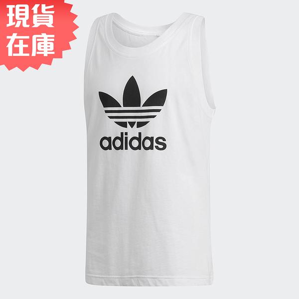 【現貨】ADIDAS TREFOIL TANK TOP 男裝 背心 慢跑 訓練 棉質 黑LOGO 白【運動世界】DV1508