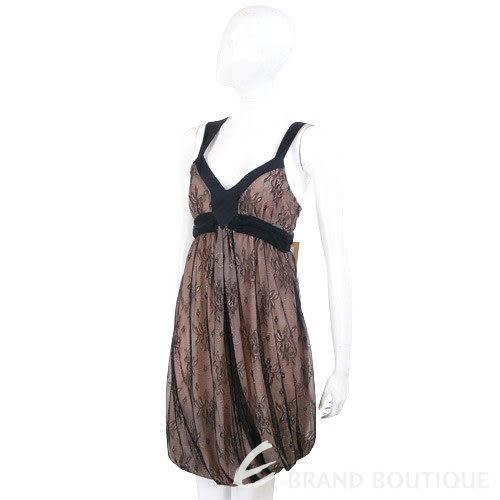 galliano 黑色蕾絲V領洋裝(粉色) 0730233-29