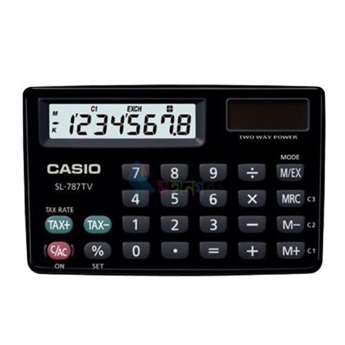 【出清賠售】SL-787TV 隨機不挑色 CASIO 計算機專賣店 國隆 銀&黑 攜帶型 大字幕顯示 賠售不開發票