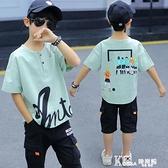 男童短袖中大童夏裝純棉t恤潮童半袖寬鬆男孩兒童打底童裝半袖t潮
