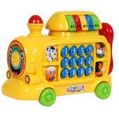 音樂玩具嬰兒玩具火車幼兒童音樂早教0-1歲寶寶玩具電話機3歲小孩6個月12【限時好康八折】