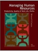 二手書博民逛書店 《【MANAGING HUMAN RESOURCES:PRODUCTIVITY,QUALITY OF WOR】》 R2Y ISBN:0071123113│CASCIO