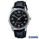 CASIO卡西歐 休閒時尚簡潔大方數字指針腕錶 MTP-V001L-1B