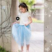 輕夏套裝~織花繡側綁帶上衣 內搭褲裙(250522)★水娃娃時尚童裝★