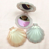 店長推薦 swimmer日系軟妹海洋風貝殼雕花雙面鏡隨身鏡子化妝鏡折疊鏡