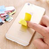 【U型支架】可愛卡通魔力貼手機架 黏貼式U形皮紋桌面手機座
