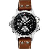 電影ID4:主角配戴款 Hamilton 漢米爾頓 御風者系列機械腕錶-黑x卡其/44mm H77616533
