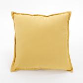 棉麻素色抱枕套45x45cm 黃