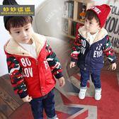 兒童外套男童童裝加厚棉衣外套-2-3-4-6-7歲男寶加絨冬裝兒童韓版棉服棉襖 春生雜貨鋪