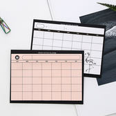 【BlueCat】ICO白橙黏貼式月計畫表 便利貼 N次貼