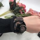 超大錶盤雙機芯手錶潮男學生時尚潮流復古石英皮帶非機械戶外 【快速出貨】