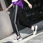 哈倫褲女 寬鬆休閒燈籠褲闊腿運動褲女薄款哈倫褲hiphop褲子女褲