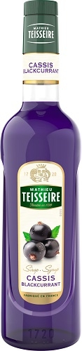 Teisseire 糖漿果露-黑醋栗風味 Blackcurrant 法國頂級天然糖漿 1000ml期限2022/3-【良鎂咖啡精品館】