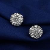 耳環 925純銀鑲鑽-精緻立體生日情人節禮物女耳針73gt74【時尚巴黎】