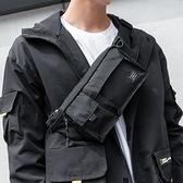 胸包防水男士腰包日繫休閒戶外背包斜背包男潮牌多功能死飛騎行包