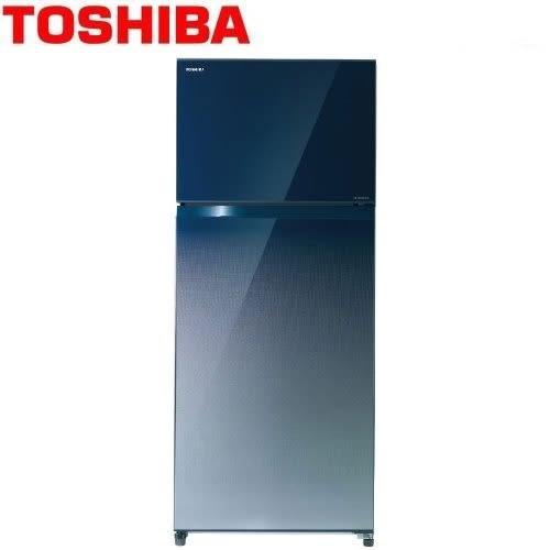 【佳麗寶】限量搶購!免運可刷卡-(TOSHIBA)505L二門變頻無邊框玻璃電冰箱 GR-HG55TDZ 藍色