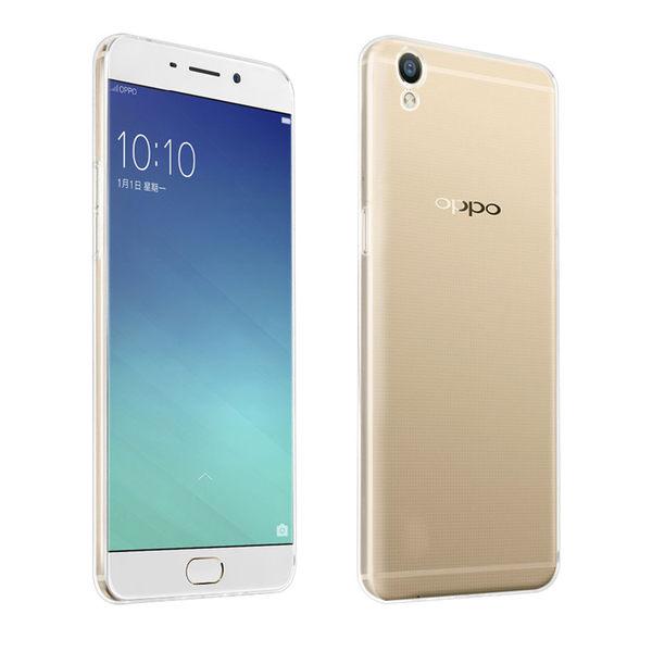 OPPO R9 晶亮透明 TPU 高質感軟式手機殼/保護套 附一體式防塵塞