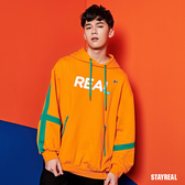STAYREAL REAL 撞色織帶帽T
