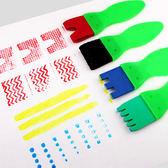 【BlueCat】兒童繪畫輪胎皮海綿塗鴉刷 顏料刷 塗鴉彩繪 (4入)