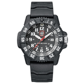 LUMINOX 雷明時 CARBON SEAL 3800碳纖維超級海豹系列腕錶-黑x白時標/46mm A3801