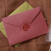 【BlueCat】火漆蠟專用 復古純色三角信封