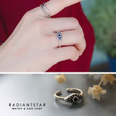 [925純銀]祈願靈魂之眼神秘復古開口戒指【SL306】璀璨之星☆