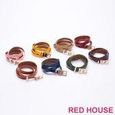 Red House 蕾赫斯-方形釦環素面皮帶(共8色)