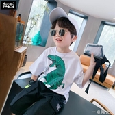 左西童裝男童T恤短袖夏裝純棉兒童體恤韓版潮中大童夏季新款一米陽光