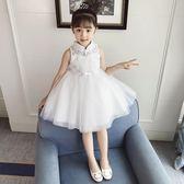女童洋裝夏裝2018新款蕾絲公主裙兒童洋氣蓬蓬裙小女孩網紗裙子禮物限時八九折