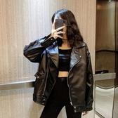 皮衣外套 2020秋季新款韓版bf風個性帥氣機車皮衣夾克寬鬆超火ins潮外套女 新年慶