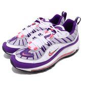 Nike Wmns Air Max 98 Raptors 白 紫 白葡萄 氣墊 女鞋 運動鞋 休閒鞋【PUMP306】 AH6799-110