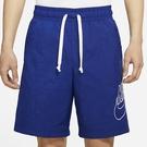 NIKE SPORTSWEAR ALUMNI 男裝 梭織 短褲 休閒 口袋 刺繡 藍【運動世界】DB3811-455