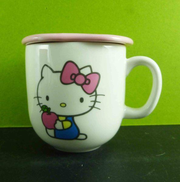 【震撼精品百貨】Hello Kitty 凱蒂貓~附蓋馬克杯-粉蘋果
