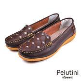 【Pelutini】donna 復古亮片刺繡休閒鞋 咖啡色(W096-BR)