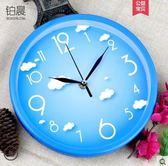 掛鐘客廳個性鐘表現代簡約鐘時尚石英鐘圓形時鐘創意掛表 時光之旅