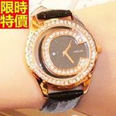 鑽錶-與眾不同流行高檔女腕錶2色5j69[巴黎精品]