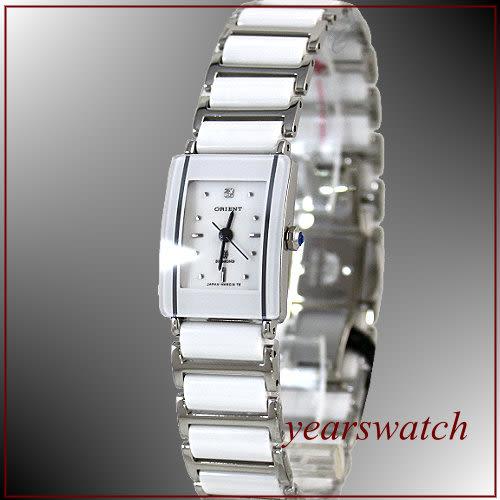 【萬年鐘錶】ORIENT 東方時尚/白/小/陶瓷錶 HM5SC13S