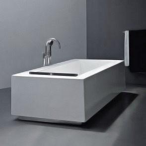 【麗室衛浴】英國ICI KERAMIN 酷波厚邊獨立式浴缸   1940x1000x470mm