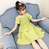 女童連身裙2019新款中大童夏季蛋糕裙兒童超洋氣公主風洋裝 XN2566【VIKI菈菈】