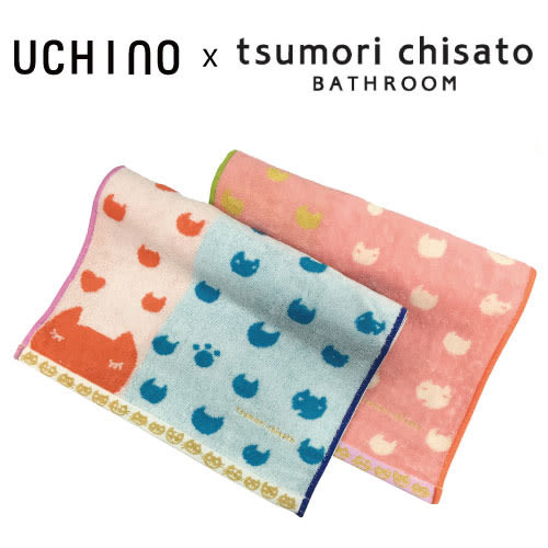 Tsumori Chisato 貓咪臉-長巾 無撚毛巾 100%純棉 日本設計師 津森千里