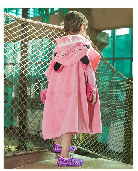 [韓風童品] 韓國Avalon兒童浴袍 竹纖維男女童浴巾 小貓咪造型嬰幼兒浴袍 兒童沙灘巾浴袍