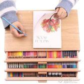 中盛畫材 櫸木抽屜木質畫架畫盒桌面油畫箱素描彩鉛收納盒畫畫畫板畫架ATF 沸點奇跡