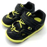 《7+1童鞋》小童 日本 MOONSTAR 月星 2E寬楦 透氣 魔鬼氈 護趾機能鞋 學步涼鞋 C485 黑色