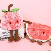創意水果毛絨 抱枕 玩具西瓜櫻桃 偶布娃娃【庫奇小舖】