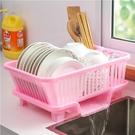 碗筷瀝水碗架收納盒廚房家用瀝水籃神器小型放餐具碗碟水槽置物架【快速出貨】