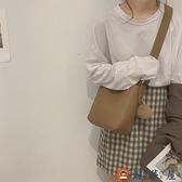 水桶包包女包時尚簡約百搭大容量側背斜背包【淘夢屋】