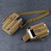 腰包男多功能豎款穿皮帶手機包帆布實用耐磨防水戰術迷你小掛包    西城故事