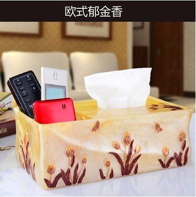 紙巾收納盒紙巾盒 多功能 樹脂紙巾抽筒創意遙控器桌面收納盒