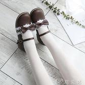娃娃鞋18原創可愛日系蕾絲花邊茶會鞋低跟圓頭娃娃鞋學生鞋洛麗塔軟妹鞋免運 CY潮流站