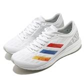 adidas 慢跑鞋 Adizero Boston 9 白 彩色 女鞋 愛迪達 臺北馬拉松限定款 【ACS】 GW5159